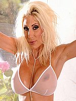 Puma Swede hot cougar toying wet in a shower from 21 Sextury